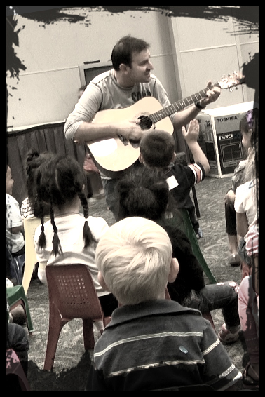 Ed Vizenor Musician With Kids